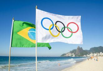 ブラジルリオデジャネイロオリンピックの旗