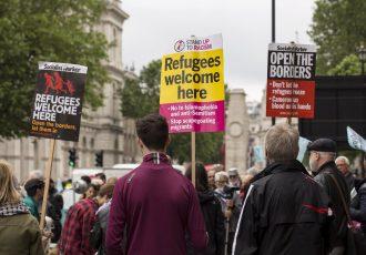 ロンドンに詰めかける難民
