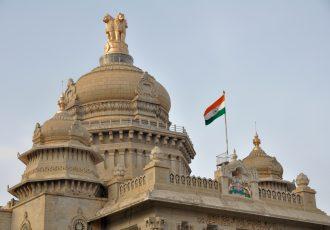 インド国旗とバンガロール