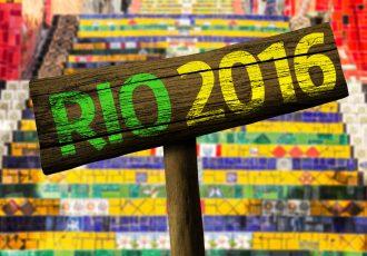 リオオリンピックの看板