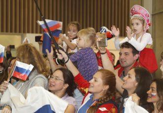 リオオリンピックのロシア代表団がリオに到着