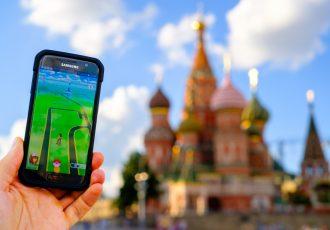 モスクワでポケモンGOをプレイ