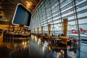 チューリヒ空港のカフェ