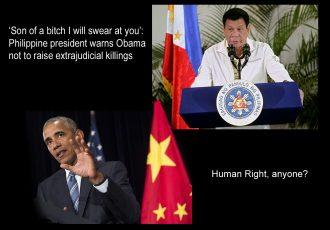 フィリピンのドゥテルテ大統領とオバマ大統領
