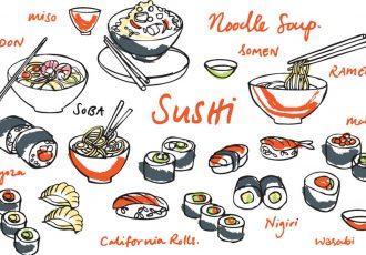 いろんな種類の日本食