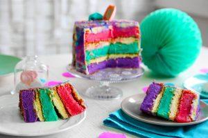 アメリカのカラフルなケーキ