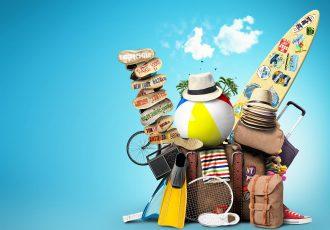 海外旅行にでかける道具一式