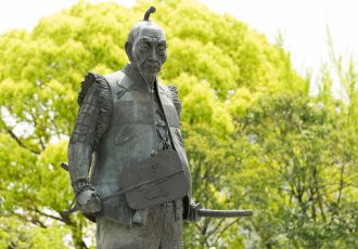 豊富秀吉の銅像