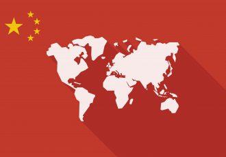 世界地図と中国
