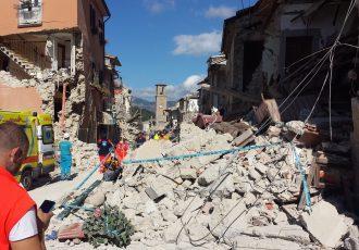 イタリアで発生した地震被害