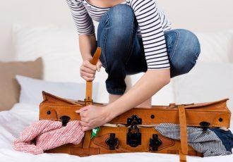 スーツケースの荷物の詰め方