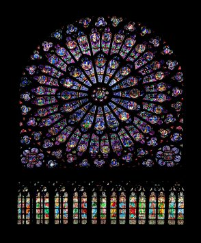 Stained glass of Cathédrale Notre-Dame, paris
