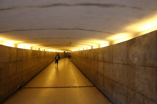 Underpass to the entrance of Arc de triomphe, Paris, France