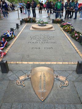 the Tomb of the Unknown Soldier under Arc de triomphe, Paris, France