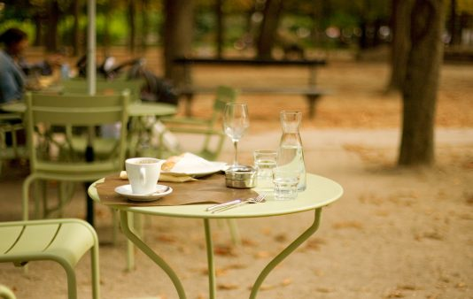 cafe in Jardin-du-Luxembourg in paris
