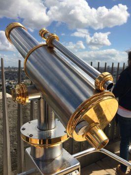 A telescope at the top of Arc de triomphe, Paris, France