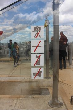 Prohibited matter at the top of Arc de triomphe, Paris, France