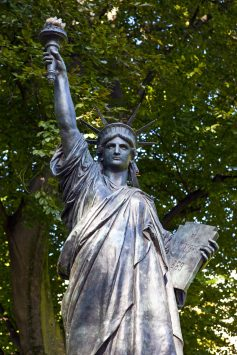 Statue of Liberty in Jardin-du-Luxembourg in paris
