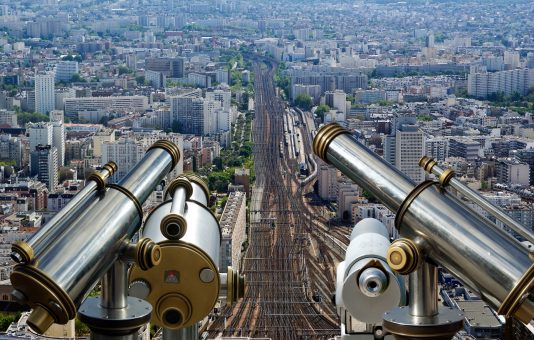 view from Montparnasse Tower in paris