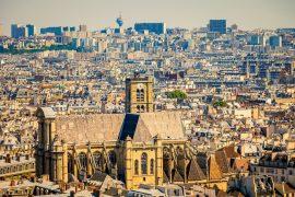 city view with Église Saint-Gervais, paris