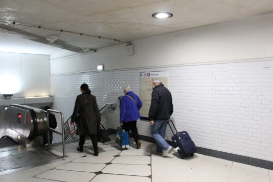 Underpass of Metro, Paris, France