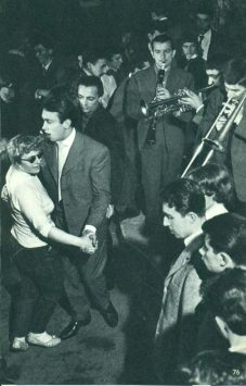 people dancing in Caveau de la Huchette in paris