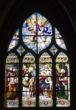 Stained glass of Eglise Saint-Severin, paris