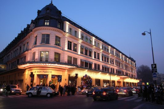 exterior of Le Bon Marche in paris