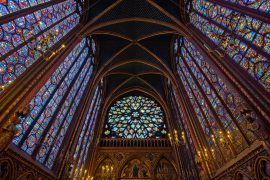 Stained glass of Sainte-Chapelle in paris
