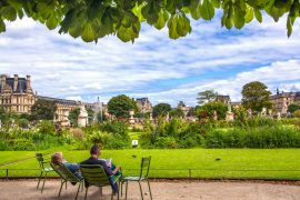 relax Tuileries Palace in paris