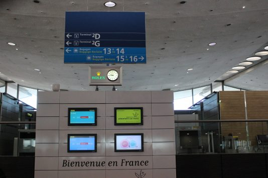 Sign board of baggage reclaim, Aéroport Roissy-Charles-de-Gaulle, Paris