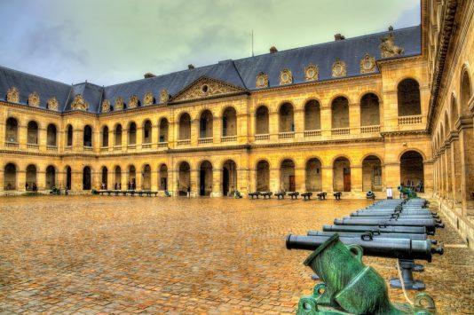 Courtyard of L'hôtel des Invalides in paris