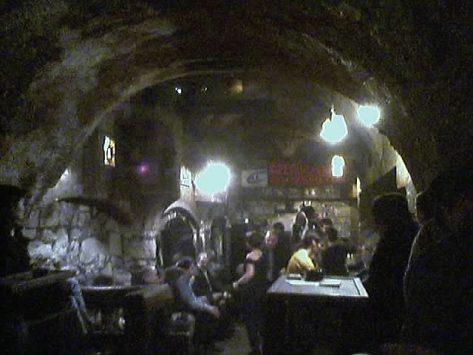 interior of Caveau de la Huchette in paris