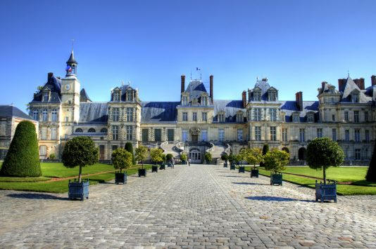 Palace of Fontainebleau in paris
