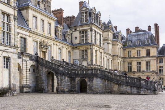 stairs of Palas Fontainebleau