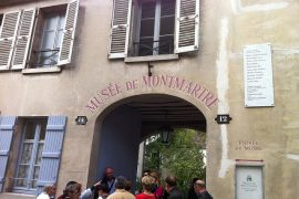 entrance of Musee de Montmartre in paris