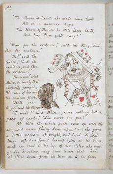 大英図書館所蔵の「不思議の国のアリス」原本