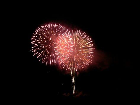 ミケランジェロ広場から観る花火