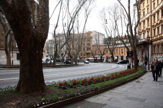 Via Vittorio Veneto in Rome