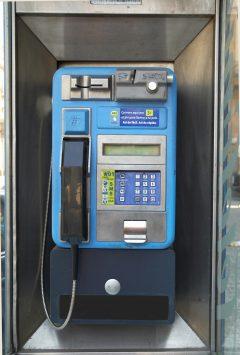 pay phone, Barcelona, Spain