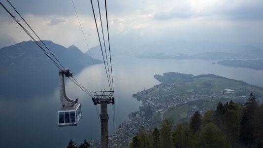 スイスのケーブルカー