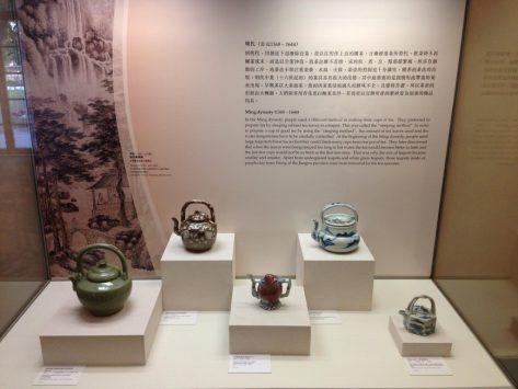 茶具文物館で展示されている急須