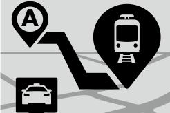 様々な交通機関のアイコン