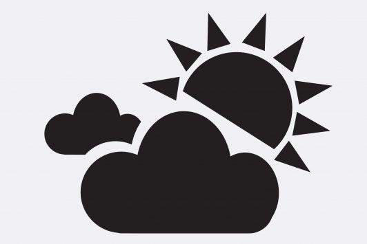 太陽と曇りのアイコン