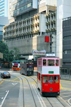 2階建てトラムは、香港名物になっている