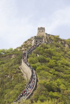 万里の長城の混雑具合