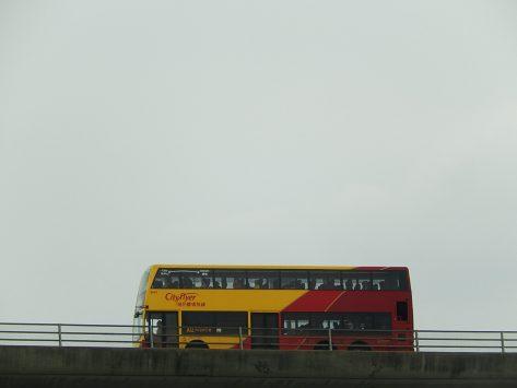香港国際空港から市内バスへの乗り継ぎ