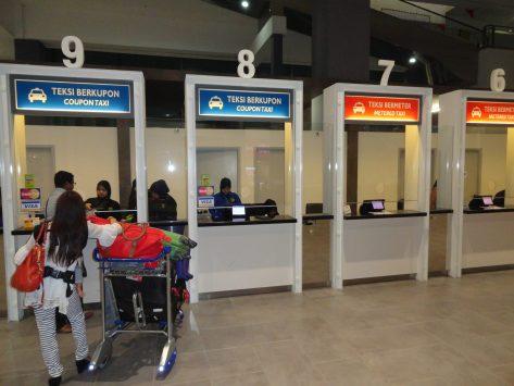 クアラルンプール国際空港のタクシーカウンター