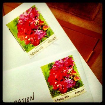 Malaysia mail stamp