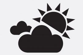 太陽や曇りのアイコン